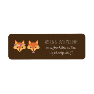 Whimsical Woodland Foxes Wedding