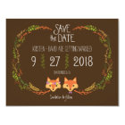 Whimsical Woodland Foxes wedding Save the Date Card
