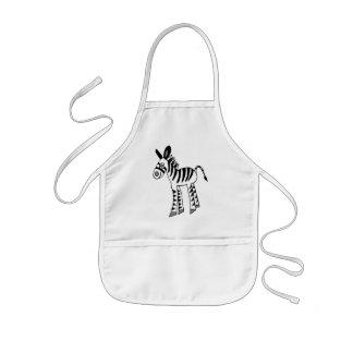 whimsical zebra foal kids apron