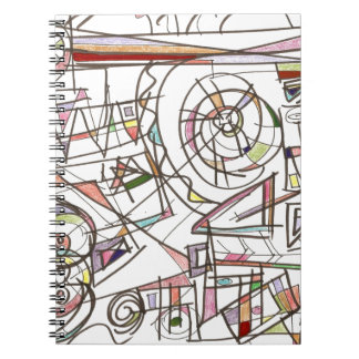 Whimsy-Abstract Art Geometric Notebook