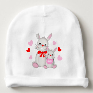 Whimsy Bunny Rabbits Mother & Baby Baby Beanie