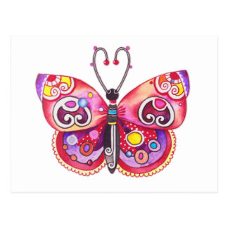 Whimsy Butterfly Postcard