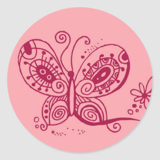 Whimsy Butterfly Sticker