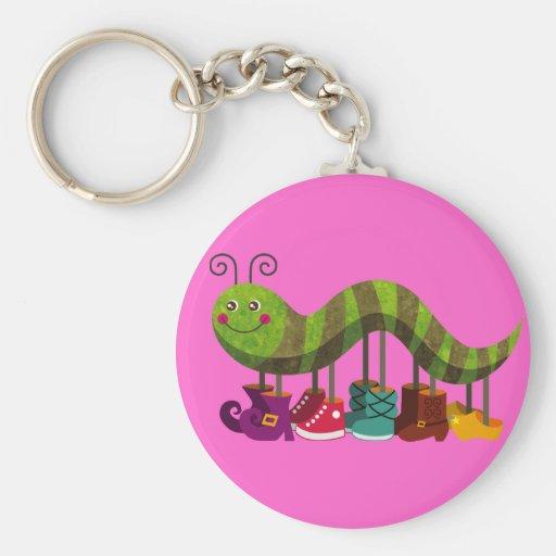 whimsy caterpillar keychain