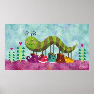 whimsy caterpillar poster