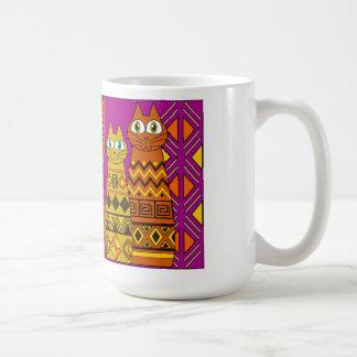 Whimsy cats coffee mug