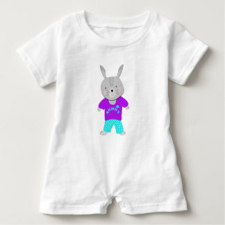 Whimsy Cute Kids Bunny Rabbit Baby Romper