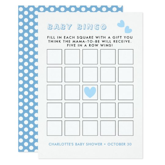 Whimsy Fairy-tale Garden Baby Shower Bingo Game Card
