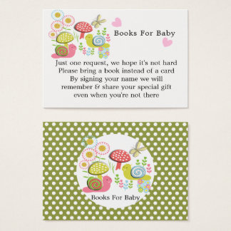 Whimsy Fairy-tale Garden Baby Shower Books Request Business Card