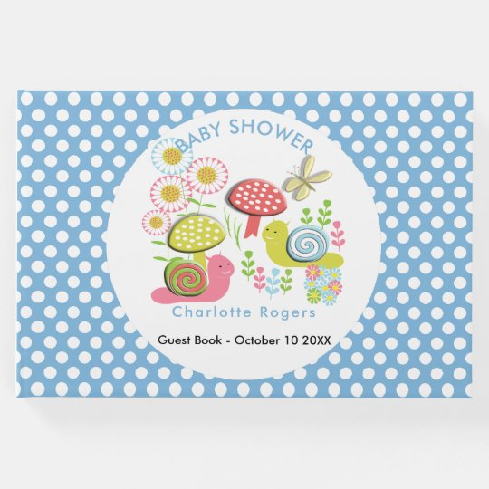 Whimsy Fairy-tale Spring Garden Baby Bpy Shower Guest Book