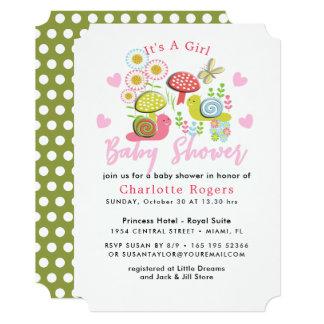 Whimsy Fairy-tale Spring Garden Baby Girl Shower Card