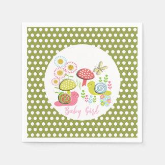 Whimsy Fairy-tale Spring Garden Baby Girl Shower Paper Napkins