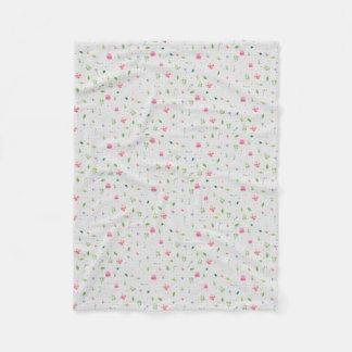 Whimsy Floral 2 Fleece Blanket