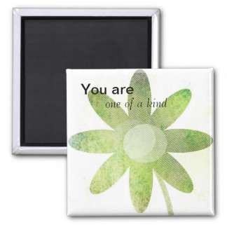 Whimsy Floral Art Square Magnet