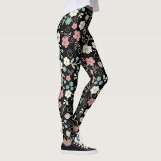 Whimsy Flower Pattern Leggings