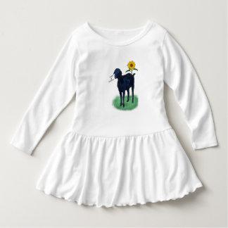 Whimsy Goat Toddler Ruffle Dress