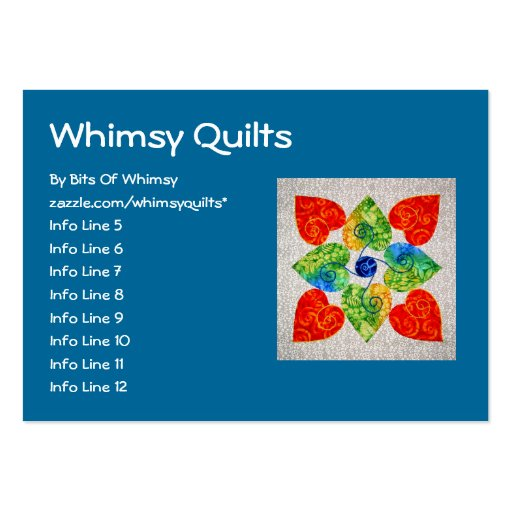 whimsy hearts quilt block 1 large business cards pack of 100 zazzle. Black Bedroom Furniture Sets. Home Design Ideas