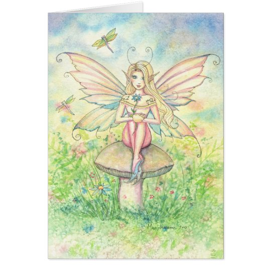 Whimsy In Pink Fairy Greeting Card