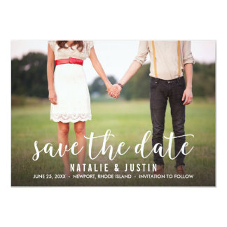 Whimsy Photo Save the Date Announcement