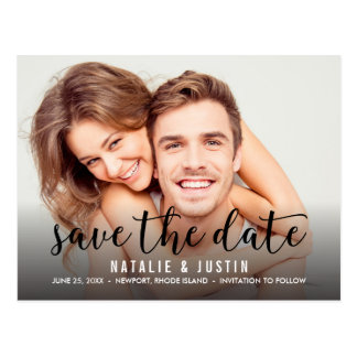 Whimsy Photo Save the Date Announcement Postcard