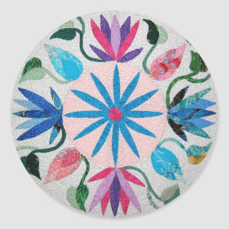 Whimsy Quilt Stickers! Classic Round Sticker