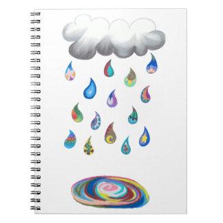 Whimsy Rain Noebook Spiral Notebook