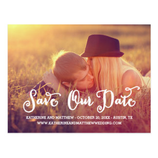 Whimsy Script | Save the Date Postcard
