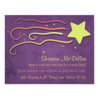 Whimsy Shooting Star Baby Shower Invitation
