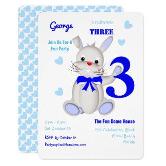 Whimsy Super Cute Bunny Rabbit Birthday Invite