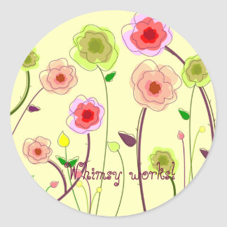 Whimsy works floral sticker