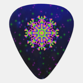 WhimsyQuest Kaleidoscope Guitar Pick Pink and Blac