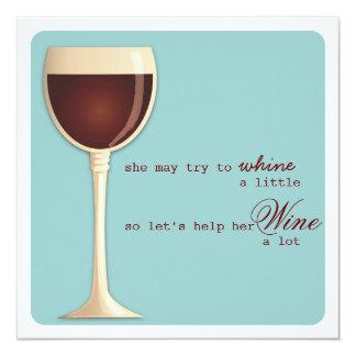 Whine or Wine Milestone Birthday Party Invitation