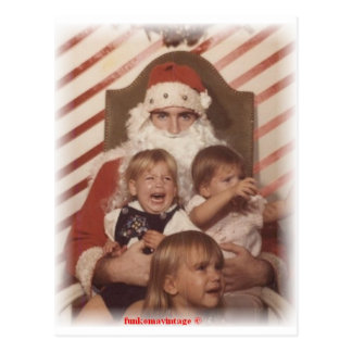 Whining Christmas Kids Postcard