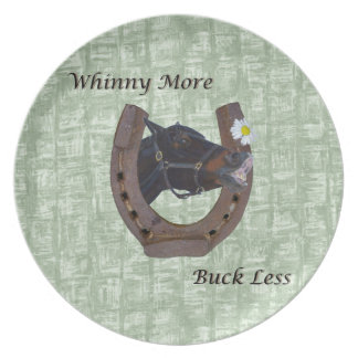 Whinny More, Buck Less Horse Dinner Plate