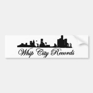 WHIP CITY RECORDS STICKERS CAR BUMPER STICKER