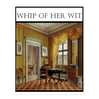 Whip Of Her Wit - Cover Post Card