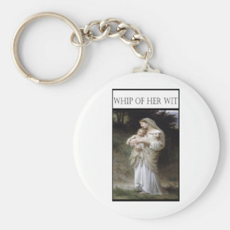 WHIP OF HER WIT -Innocence Basic Round Button Keychain