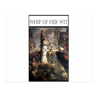 WHIP OF HER WIT -Jeanne au bucher Postcard