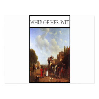 WHIP OF HER WIT- Portsmouth Road Postcard