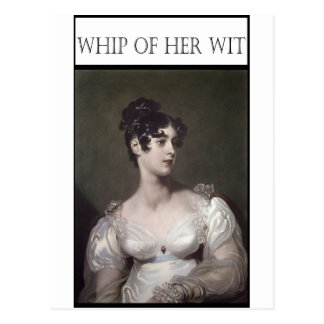 WHIP OF HER WIT POSTCARD