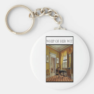 WHIP OF HER WIT- Victorian Perios Basic Round Button Keychain