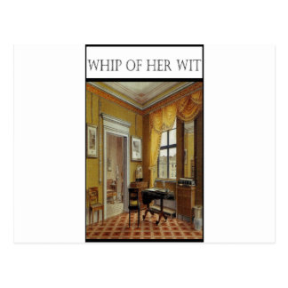 WHIP OF HER WIT- Victorian Perios Postcard