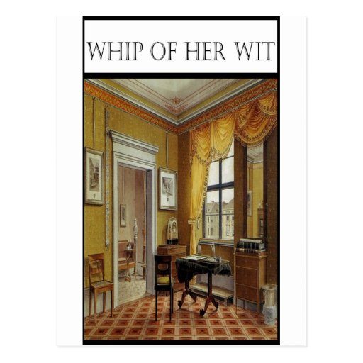 WHIP OF HER WIT- Victorian Perios Post Card