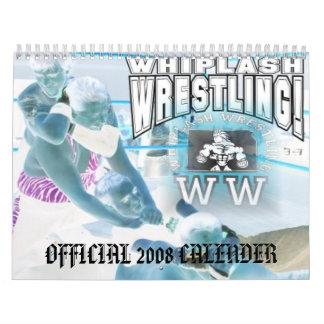 Whiplash Wrestling 2008 Calender Calendar