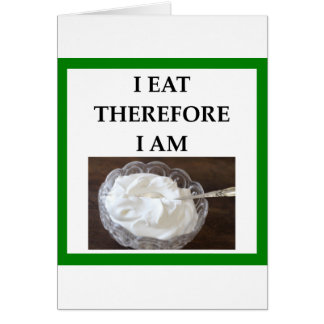 whipped cream card