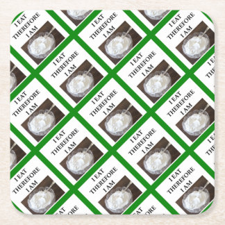 whipped cream square paper coaster