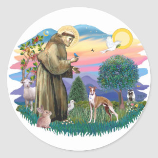 Whippet (#12) classic round sticker