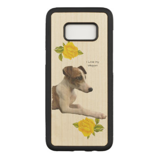Whippet and Yellow Roses Carved Samsung Galaxy S8 Case