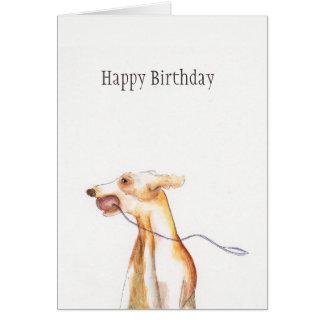 'Whippet' birthday card