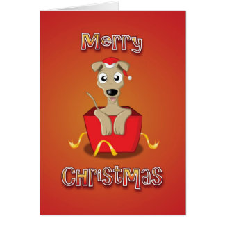 whippet - box - merry christmas card